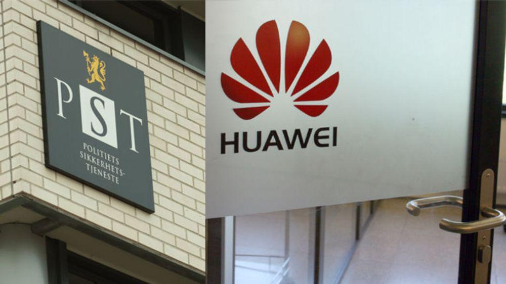Kinesiske Huawei er hoffleverandør av både Telenors og Netcoms mobilnett her til lands. PST er bekymret.