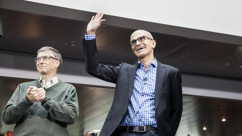Hvem er sjefen her? Microsofts nye toppsjef, Satya Nadella, får Bill Gates som teknologirådgiver. Det bekymrer investorer.
