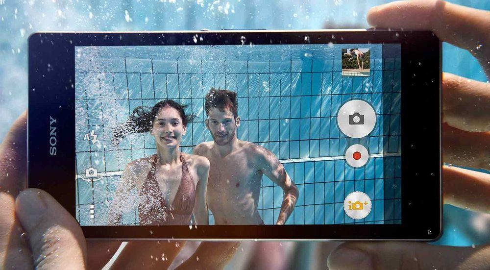 Sony Xperia Z1 tåler å bli brukt under vann, riktignok begrenset til 1,5 meters dybde.