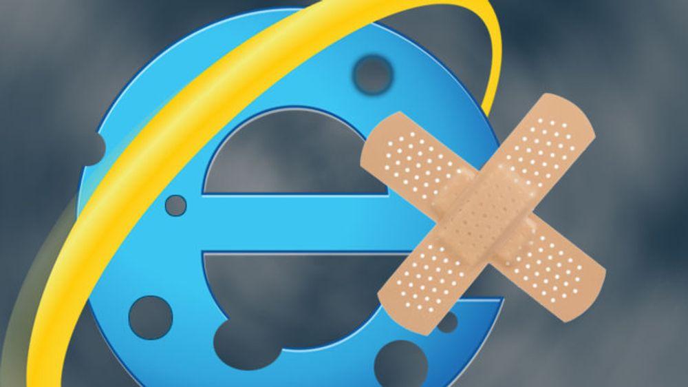 Selv snart tretten år gamle IE6 som ble levert med Windows XP blir lappet i tirsdagsfiksen fra Microsoft.