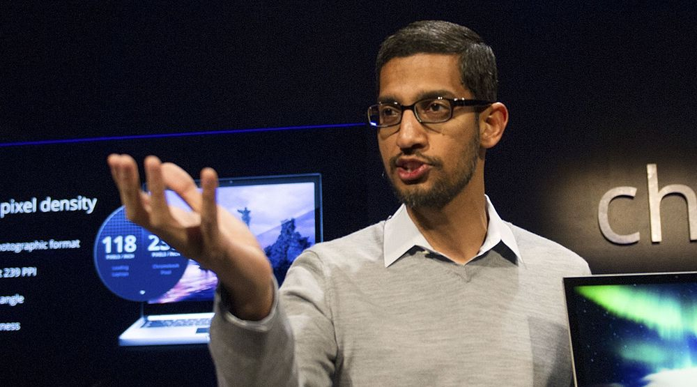 Sundar Pichai er senior visepresident i Google og sjef for selskapets Android-, Chrome- og Google Apps-virksomhet. Han avviser at Google  har tilbudt seg å kjøpe WhatsApp.