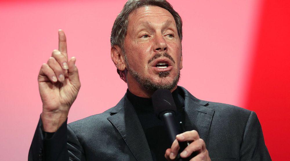 Det peker ikke oppover for Oracle. Toppsjef, Larry Ellison kunne onsdag presentere svake resultater.