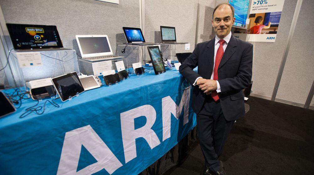 Administrerende direktør i ARM, Warren East, gir seg på toppen når han forlater selskapet i juni år. Her avbildet under  2013 Consumer Electronics Show i Las Vegas.