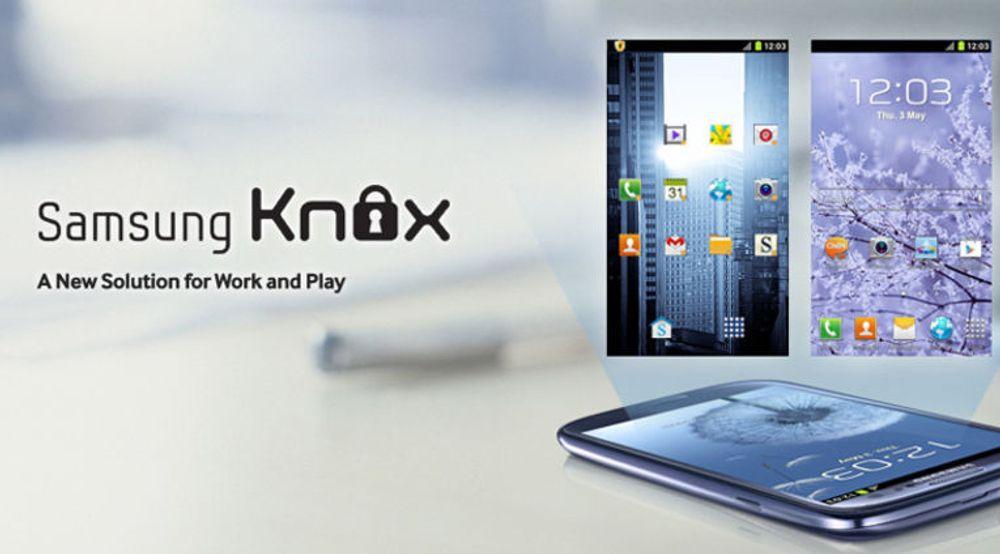 Samsung Knox kommer i Galaxy S 4 og tilbyr brukerne blant annet muligheten til å opprette et sikkert skille mellom en privat og en profesjonell profil på mobilen.