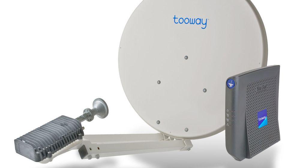 Tooway er en satellittbasert bredbåndstjeneste som leverer data både opp- og nedstrøms ved hjelp av en relativt liten satellittantenne.