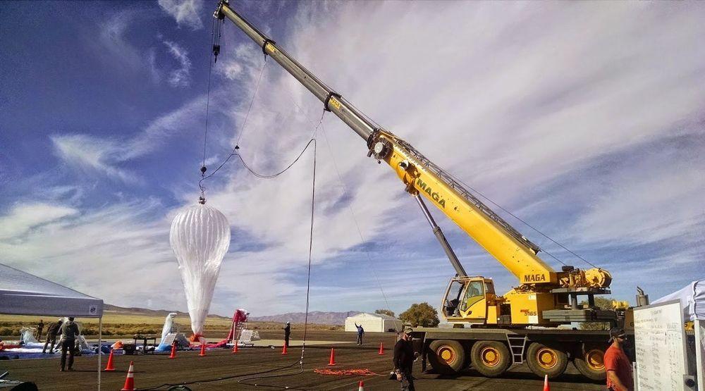 Den mest moderne versjonen av Project Loon-ballongen.