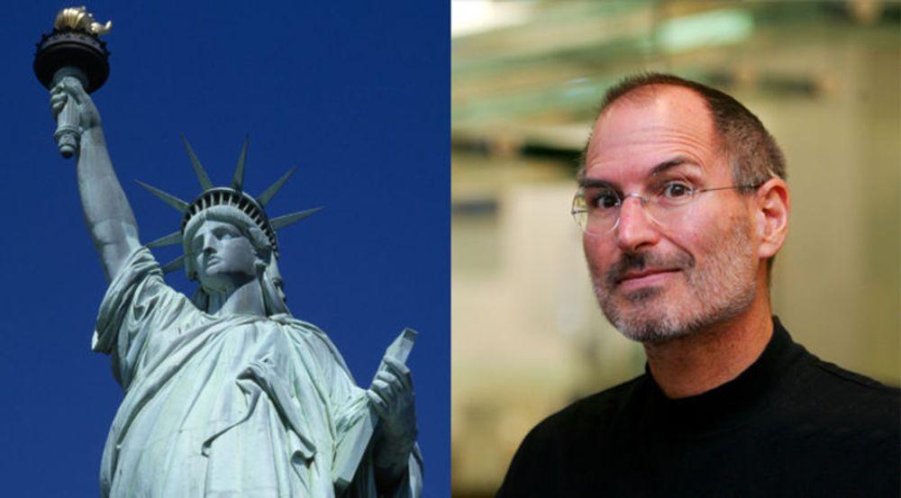 Apple-tilhengere samler inn penger for å reise en statue av Steve Jobs i hans fødeby, San Francisco. Den blir neppe like stor som Frihetsgudinnen, men i tråd med Jobs' livsfilosofi velger initiativtakerne å sikte høyt.