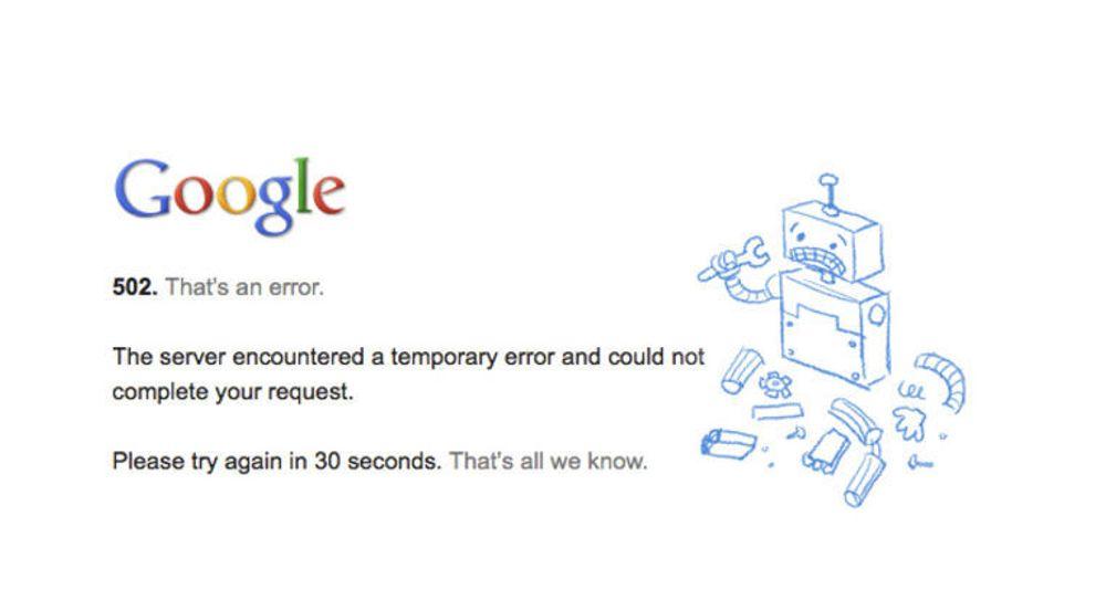 Nedetid for Googles tjenester inntreffer i blant, men det hører til sjeldenhetene at alle tjenestene blir helt utilgjengelige på en gang.
