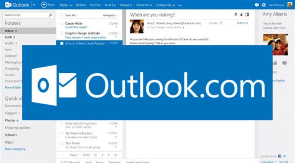 Microsofts e-posttjeneste og Gmail-konkurrent, Outlook.com, hadde store problemer forrige uke.