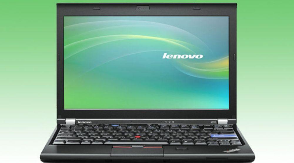Bærbare pc-er utgjør 52 prosent av Lenovos omsetning. Bildet viser en Thinkpad x220a.