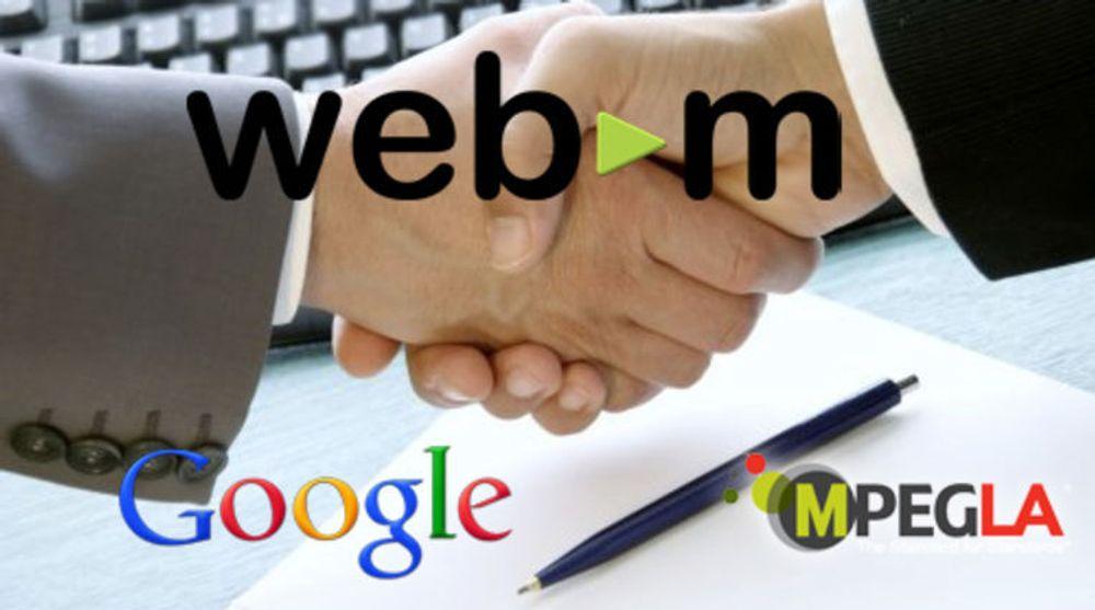 Googles avtale med MPEG LA kan bidra til mer støtte for og større utbredelse av det VP8-baserte videoformatet WebM.