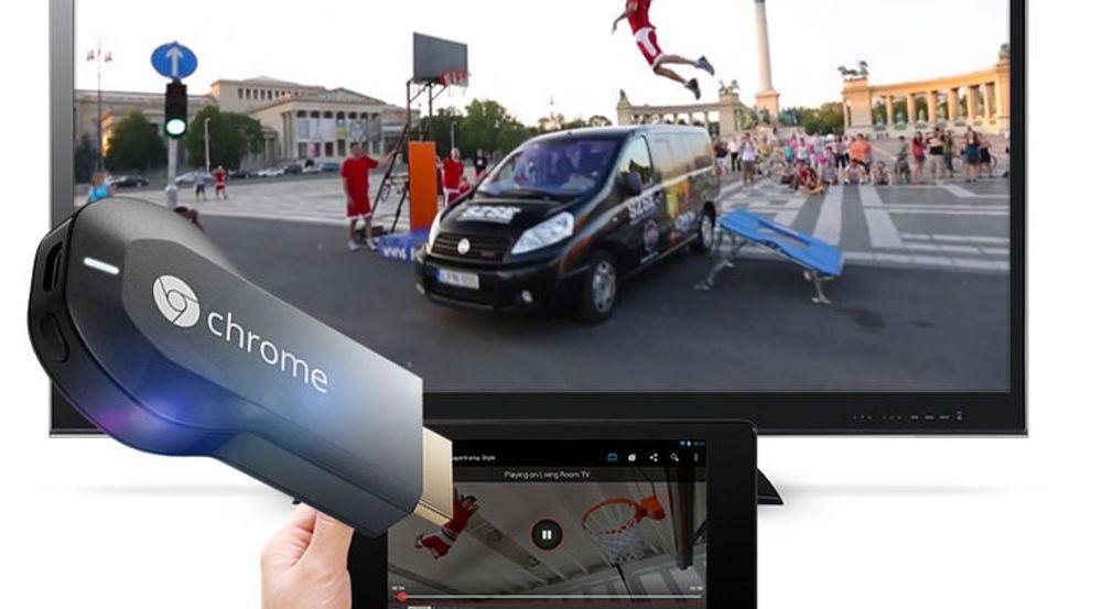 Chromecast lar brukeren vise innhold på tv-en ved hjelp av kompatible mobilapplikasjoner eller en utvidelse til nettleseren Chrome.