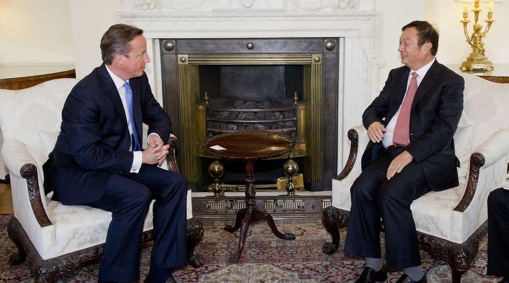 Statsminister David Cameron tok i mot Huawei-sjef Ren Zhengfei i Downing Street 10 i september i fjor.