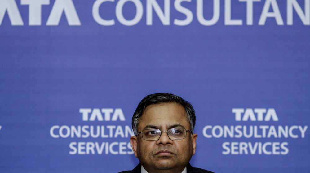 «Robuste volumer og sunn vekst» på tvers av alle bransjer sørget for å gi Tata en god start på det nye finansåret, sier konsernsjef Natarajan Chandrasekaran (bildet).
