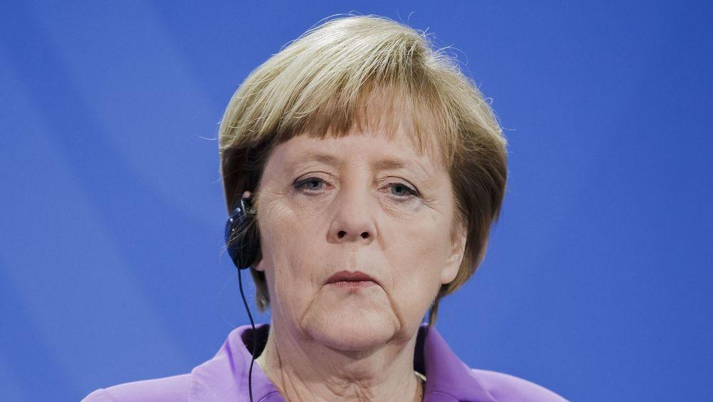 Den tyske delegasjonen var i USA etter at Tysklands påtalemyndighet forrige uke innledet etterforskning av en ansatt i den tyske etterretningstjenesten BND. Bildet viser Tysklands statsminister Angela Merkel fra april i år.