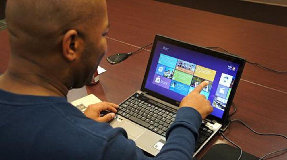 Ingen hit: PC-er med trykkfølsomme skjermer har ikke slått an i markedet. Det er synd for Microsoft, som har bygget opp Windows 8 nettopp med tanke på denne type maskiner.