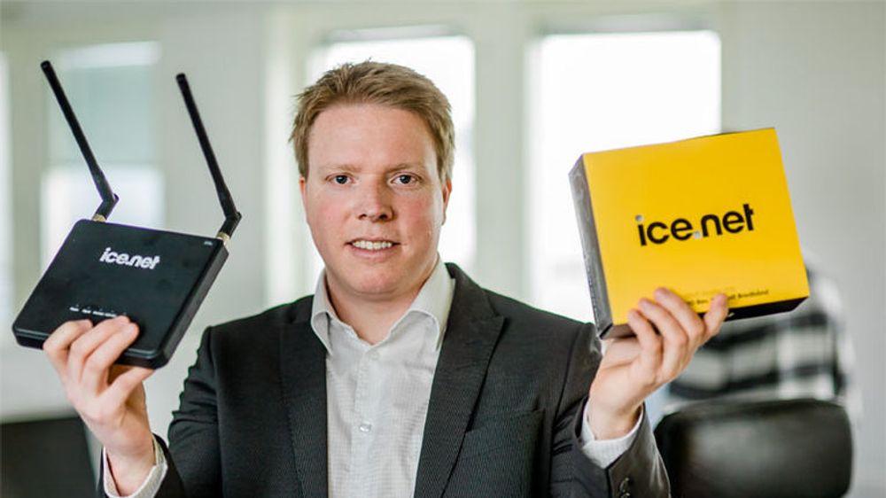 Ice.net-sjef Eivind Helgaker kan nå sprade i 4G-lisenser, litt avhengig av hva eierselskapet velger å gjøre med frekvensene de har kjøpt.