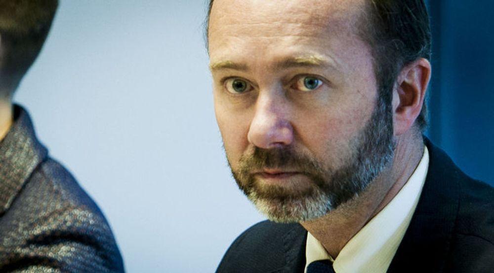 Næringsminister Trond Giske la fredag frem regjeringens politikk for å bekjempe piratkopiering. Bildet er tatt samme dag, men i en annen sammenheng.