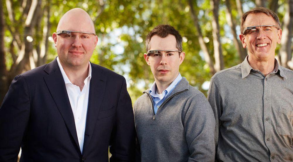 Marc Andreessen (t.v), Bill Maris og John Doerr jakter gründere som kan komme med gode ideer til Google Glass.