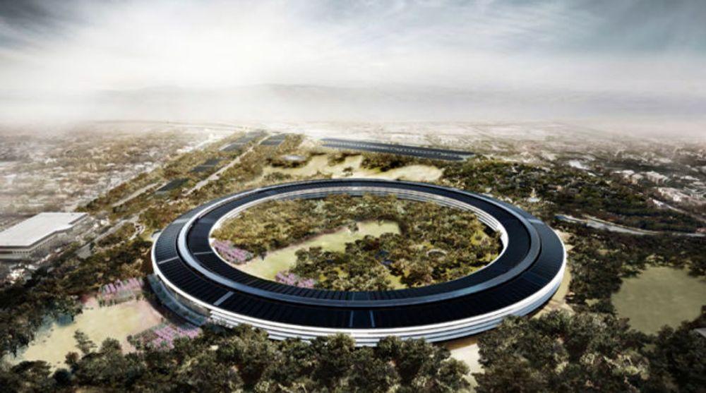 Apples nye signalbygg blir oppført med bistand blant annet fra svenske Skanska.