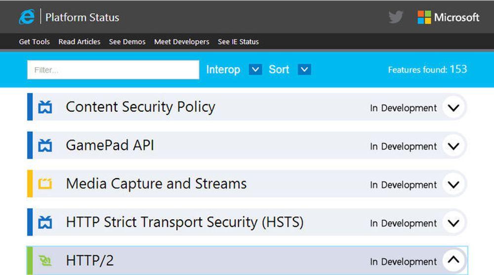 GamePad API er blant webteknologiene som sannsynligvis vil støttes av Internet Explorer 12.