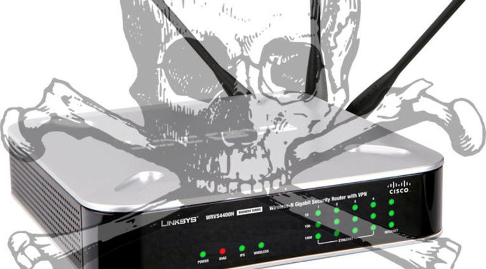 Forskere har funnet en bakdør i den til nå antatt beste sikkerhetsteknologien for trådløse datanett, WPA2. Dersom opplysningene i rapporten faktisk stemmer, må alle rutere, aksesspunkter og klientutstyr enten oppdateres eller skiftes ut. Cisco-ruteren som er avbildet er i så fall bare én av mange som er berørt.