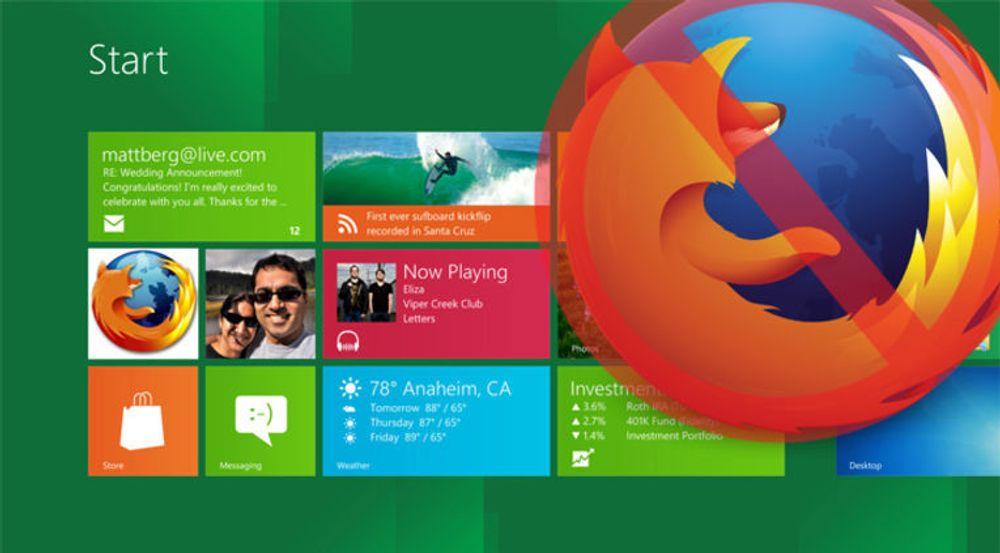 Microsoft har gjort det for vanskelig å bytte nettleser i metro/modern ui-grensesnittet, mener en Firefox-utvikler i Mozilla.