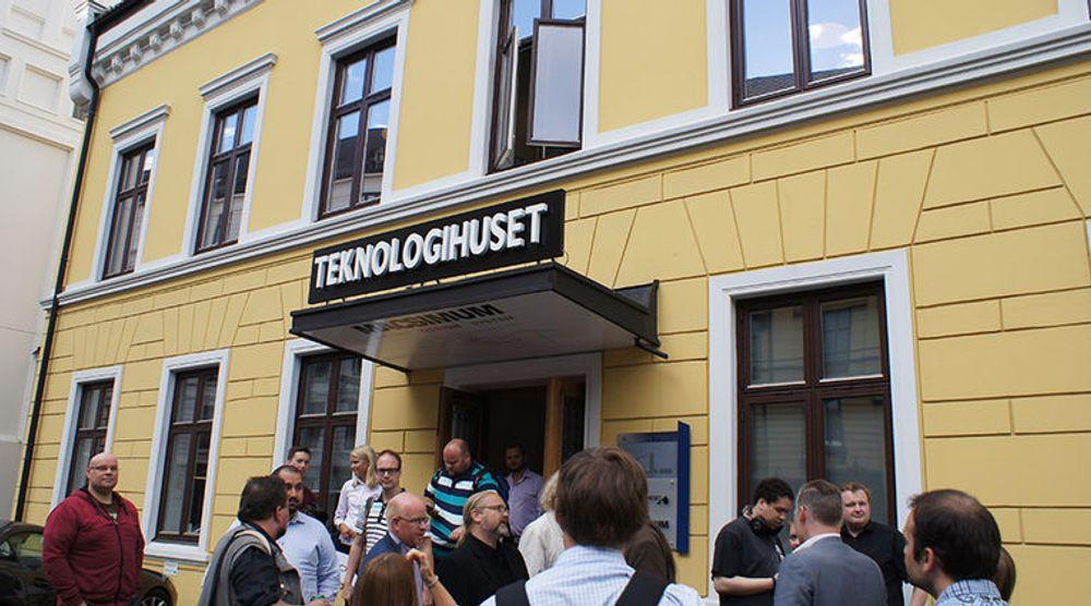 Bygget ligger ganske sentralt til, på Bislett i Oslo