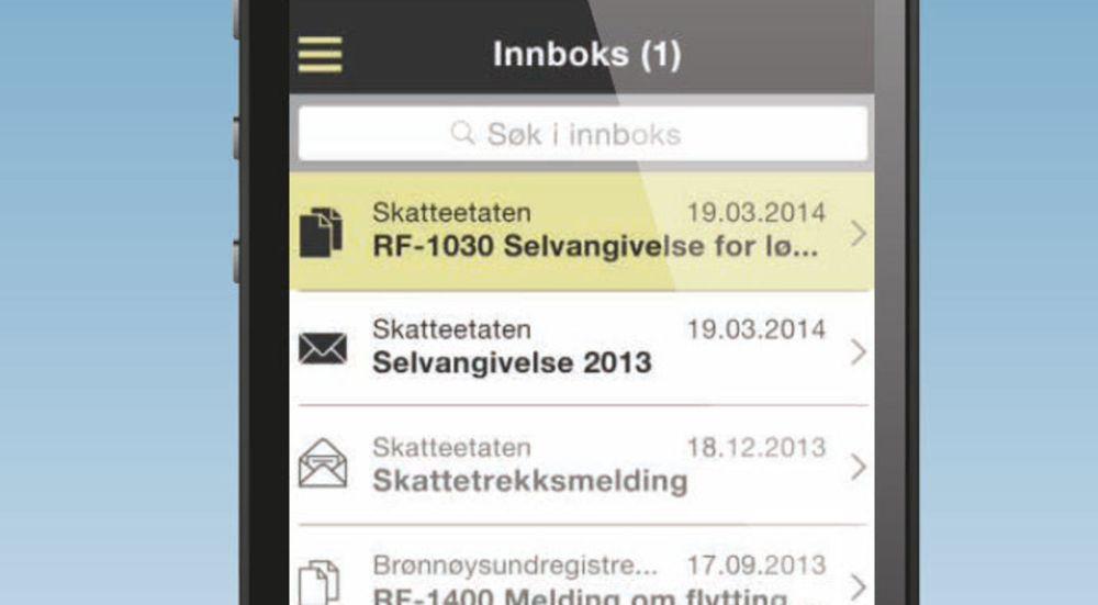 Altinn-appen er i første omgang tilgjengelig for iOS, men skal også komme til Android og Windows Phone.