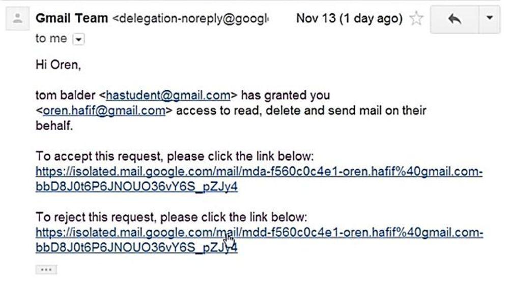 Det var den nederste av disse lenkene Oren Hafif kunne utnytte til å finne mengder med Gmail-adresser.