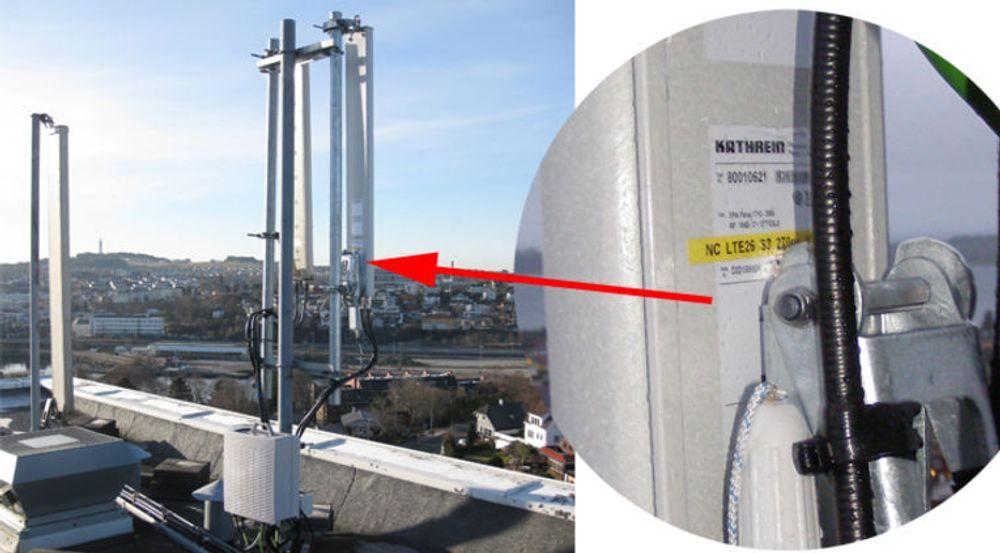NetCom-eid 4G-mast (LTE) i Stavanger.