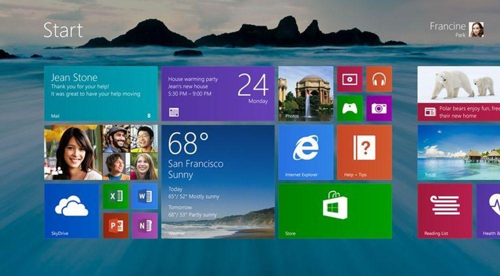 Muligheten til å se skrivebordets bakgrunnsbilde også i Modern UI, er blant nyhetene i Windows 8.1. Men for mange er det nok andre nyheter i samspillet mellom desktoppen og Modern UI som vil være viktigst.