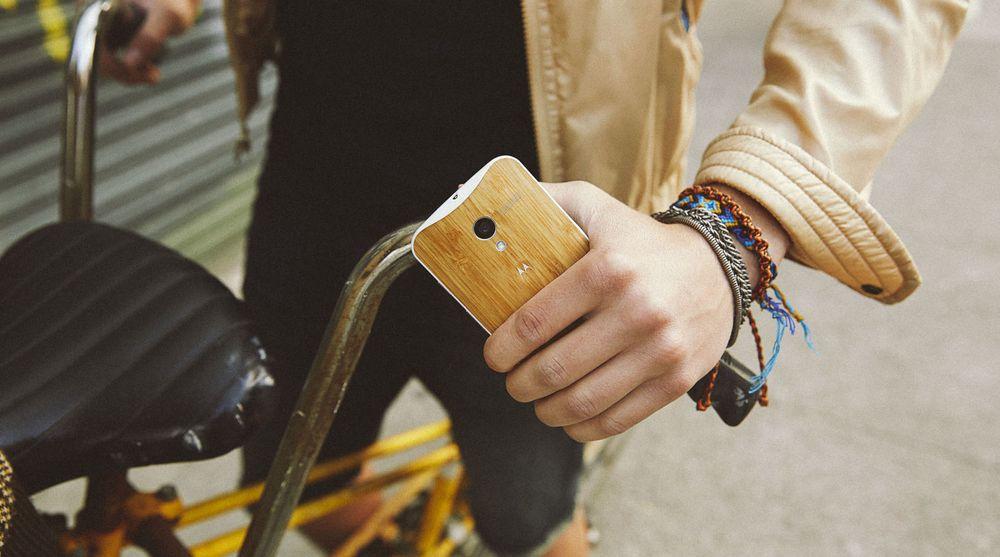 Treverk er blant materialene som Motorolas nye Moto X skal kunne leveres med.