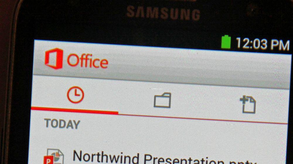 En Microsoft Office-applikasjon er nå tilgjengelig for Android-mobiler, men foreløpig bare i USA.