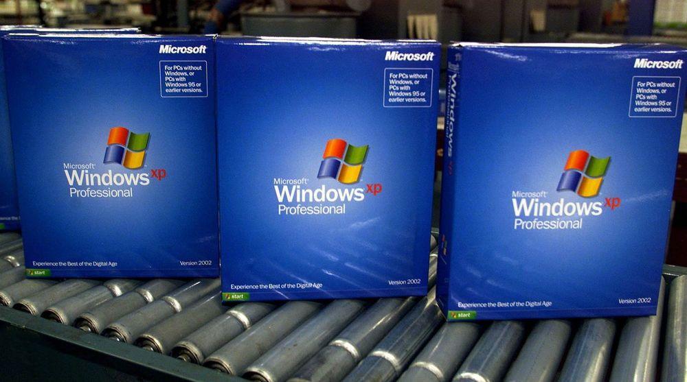 NØDFIKS: Det begynner å bli lenge siden ferske kopier av Windows XP rullet av samlebåndene. Operativsystemet støttes offisielt ikke lenger av Microsoft, men i går sendte de likevel ut en kritisk feilfiks.