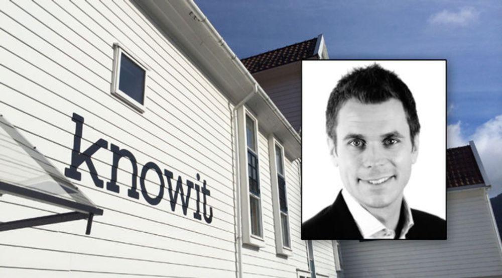 Henrik Lie-Nielsen i IT-konsulentselskapet Knowit melder om vekst i Norge.
