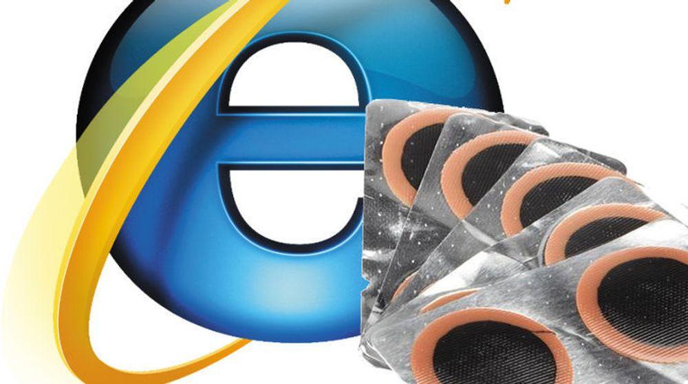 Lappesaker til nulldagssårbarheten i alle relevante utgaver av Internet Explorer vil uansett ikke komme til Windows XP-brukere. USAs myndigheter ber XP-brukere vurdere å bruke en annen nettleser.
