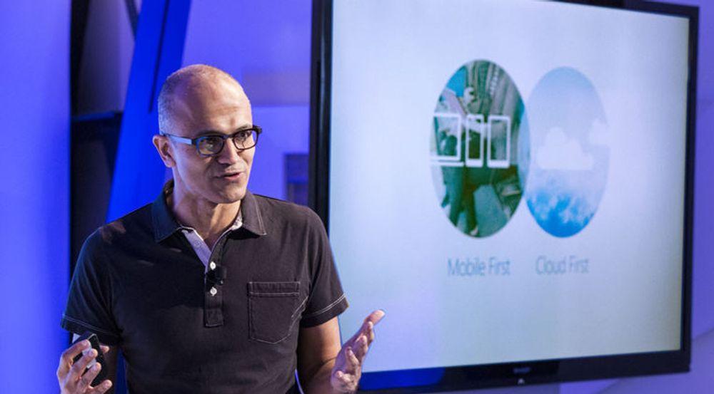 «NADELLA-EFFEKTEN»: Investorene ser ut til å tro på visjonen til Satya Nadella, som i februar overtok som Microsoft-sjef etter Steve Ballmer.