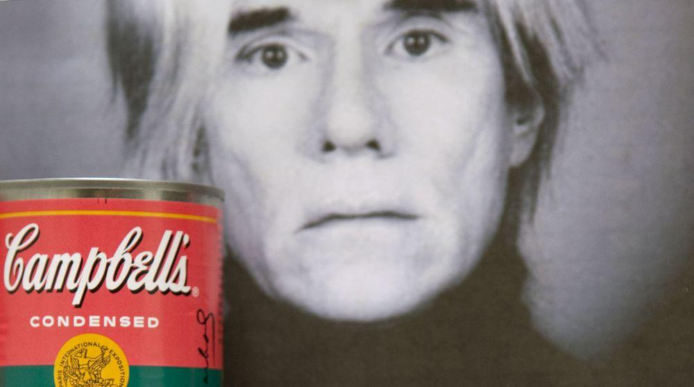 Andy Warhol ble kjent for sin kunst inspirert av alminnelige gjenstander, som supperbokser fra Campbell's.