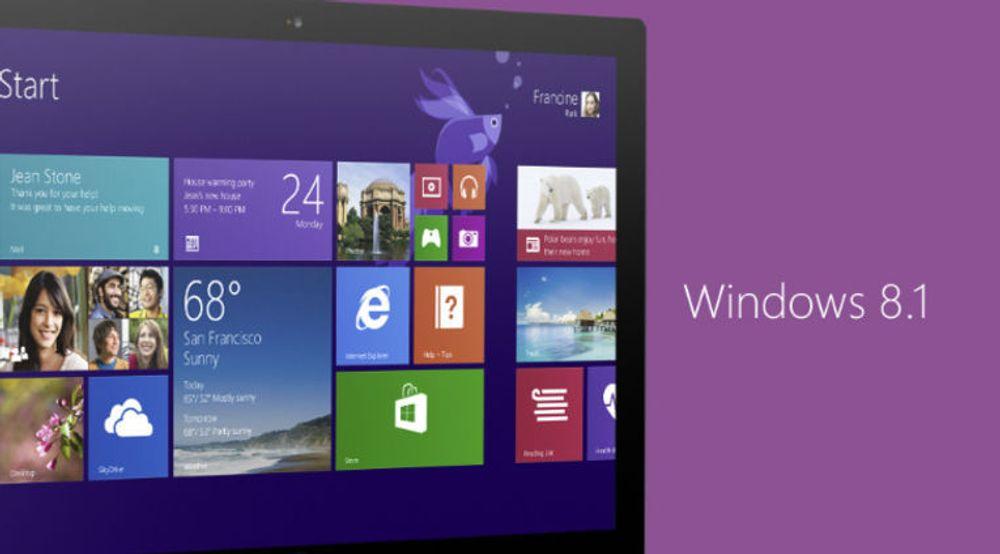 Kun bedrifter med sentrale løsninger for utrulling av oppdateringer kan i månedene som kommer installere sikkerhetsoppdateringer til Windows 8.1 på maskiner hvor Windows 8.1 Update ikke er installert.