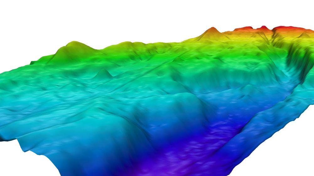 Geodata, som denne 3D-representasjonen av en undersjøisk canyon som nylig har blitt funnet utenfor Tasmania, skal i framtiden kunne integreres enklere og bedre med webteknologi.