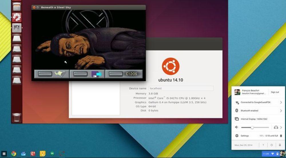 Med den nye utvidelsen til Chrome OS og programvaren crouton kan man kjøre blant annet Ubuntu i et eget vindu i Chrome OS. Det gir tilgang til en rekke applikasjoner som i dag ikke er tilgjengelige for Chrome OS.