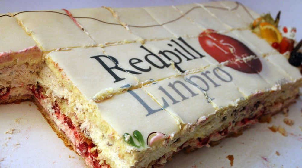 Kaken er fra 2010, da Redpill Linpro feiret sine første 15 år med fri programvare. Nå kan det svensk-norske selskapet bli stykket opp.