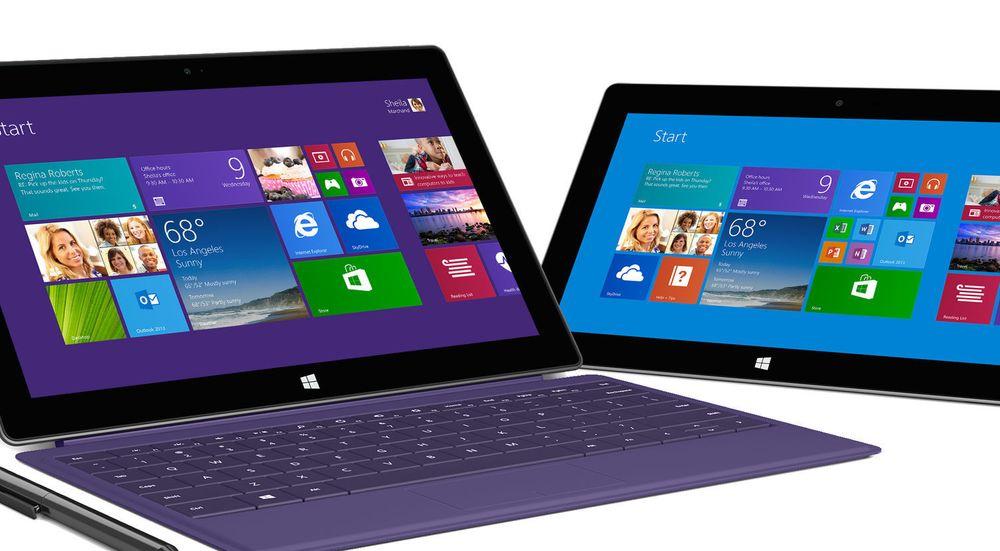 Microsoft råder grunnen alene med RT-baserte nettbrett, som avbildede Surface 2.