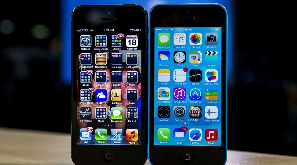 Apple rullet onsdag ut iOS7 til brukerne. Samtidig doblet de begrensingen for nedlasting av apper fra 50 til 100 MB. På bildet ser du forskjellen på det nye og den gamle brukergrensesnittet.