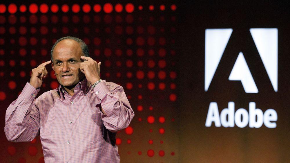 Adobe-toppsjef Shantanu Narayen er meget godt fornøyd med at deres nettskytjeneste har fått mer enn 1 million kunder.