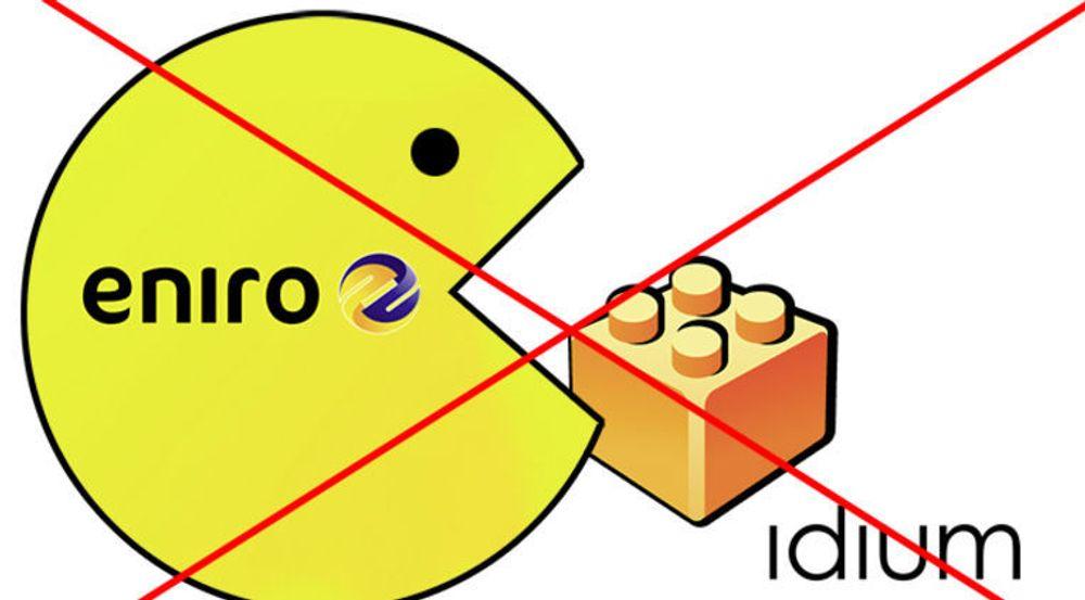 STANSER OPPKJØP: Det blir likevel ingenting av det bebudede oppkjøpet av Idium, sier Eniro.
