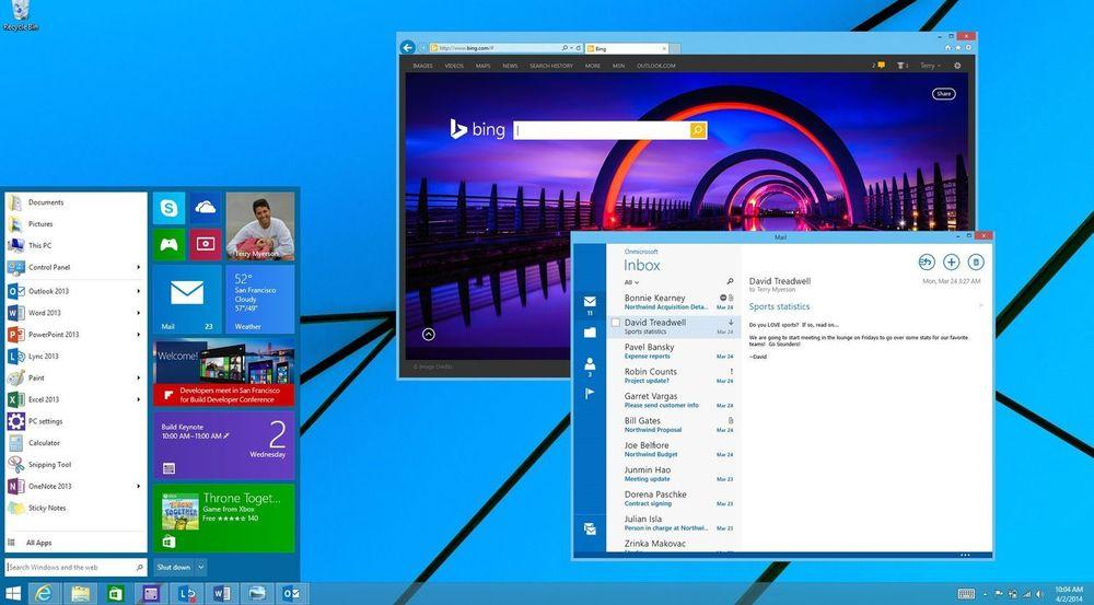 Virtuelle skrivebord, startmeny, Metro-apps i desktop-modus og nye menysnarveier er blant nyhetene vi kan vente oss i Windows 9. Bildet viser oppdateringen til Windows 8.1 som det tydeligvis ikke blir noe av.