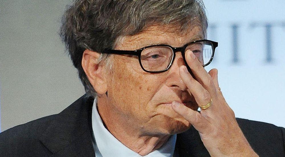 UØNSKET: Bill Gates bør gå av som styreleder i Microsoft, det mener noen av selskapets mektigste aksjonærer, ifølge Reuters. Bildet viser den verdenskjente programvaregründeren, nå filantrop, under den årlige klimakonferansen Global Initiative i New York i forrige uke.