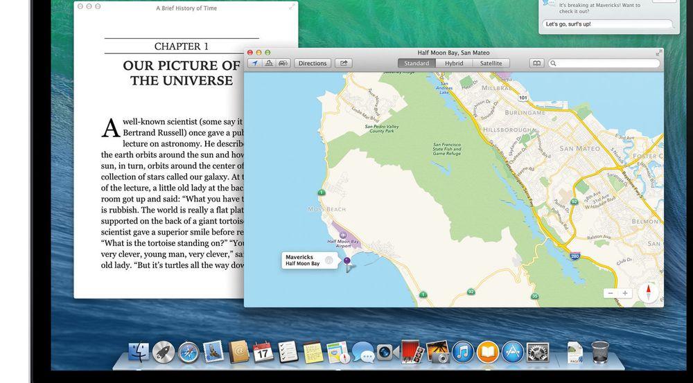Apples karttjeneste skal være integrert i den kommende Mavericks-utgaven av OS X. Stedet som er avmerket på kartet som vises på bildet, har gitt navn til den ny OS X-utgaven.